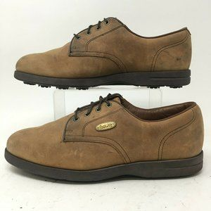 FootJoy Oxford Golf Shoes Mens 9.5M Brown Leather
